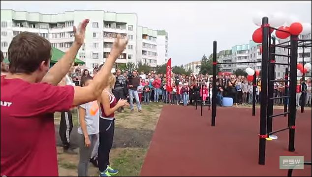 Открытие WORKOUT площадки в Бобруйске - выступление *GIG Ants*
