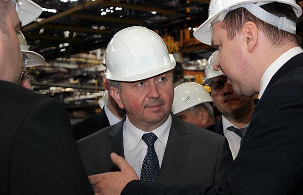 «Белшину» посетил премьер-министр Андрей Кобяков
