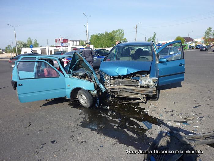 Авария на Бобруйском перекрестк