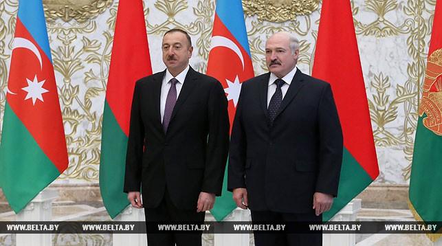Встреча между Александром Лукашенко и Ильхамом Алиевым
