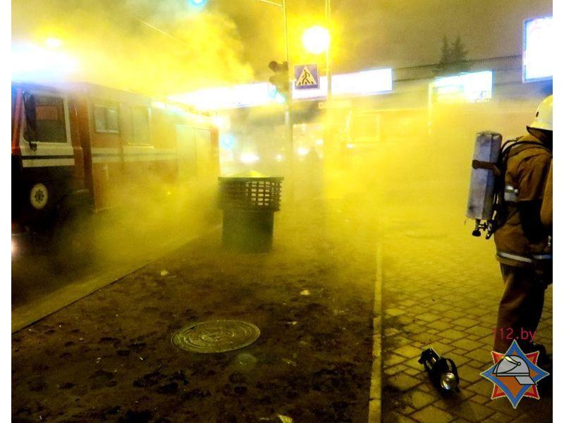 В Минске произошел масштабный пожар в кабельном коллекторе