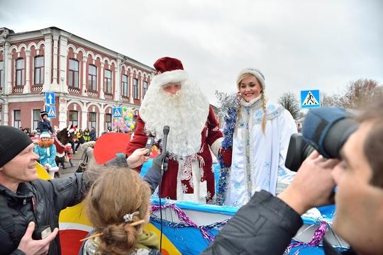 В Бобруйске торжественно зажгли праздничную новогоднюю иллюминацию