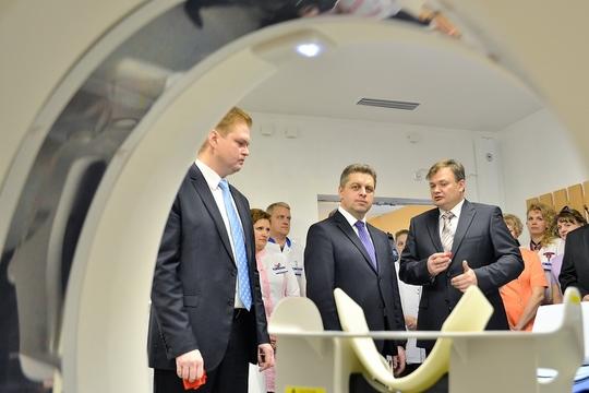 Бобруйская больница им.Морзона торжественно открыла новый кабинет компьютерной томографии