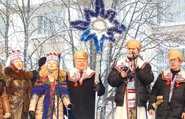 На центральной площади Бобруйска состоялся Рождественский концерт