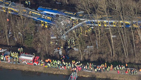 В Германии произошло трагическое столкновение пассажирских поездов