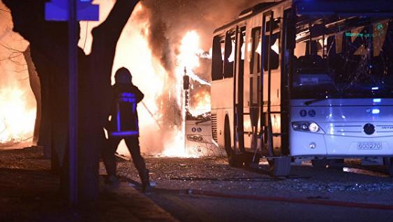 В Турции произошел теракт. Взрыв прогремел в автоколонне