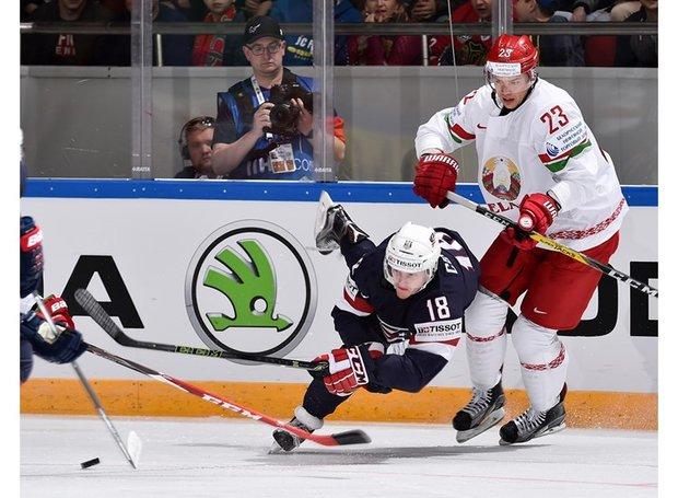 Белорусские хоккеисты проиграли США, вновь пропустив шесть шайб