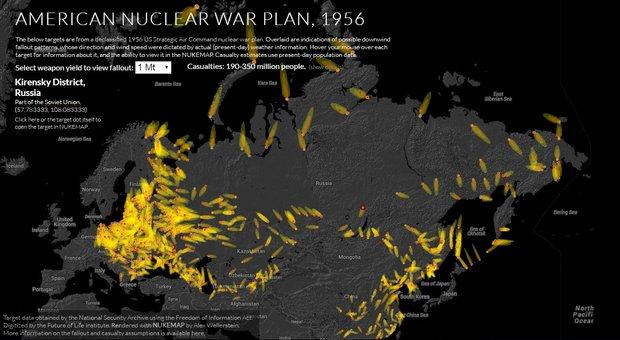 Американцы рассчитали число жертв при ядерном ударе по СССР, в списке - и города Беларуси