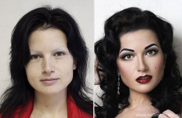 Невероятное преобразование женщин посредством макияжа