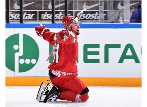 Белорусские хоккеисты готовятся к матчу с Францией