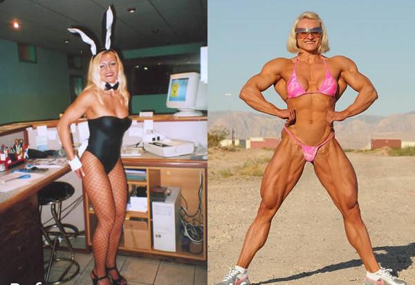 Умопомрачительные барышни до и после стероидов