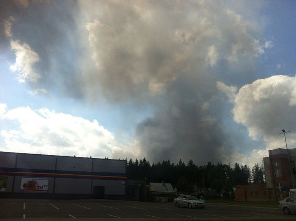 В Новополоцке горит