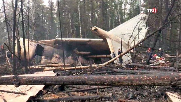 Разбившийся Ил-76 зацепил крылом деревья при наборе высоты