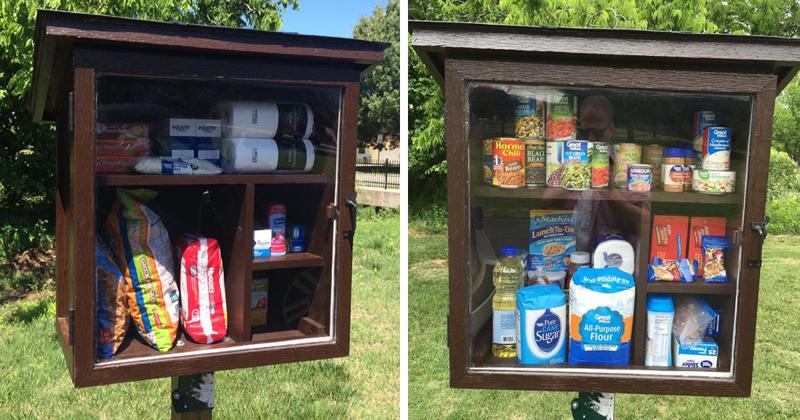 Уличные шкафчики, в которых каждый желающий может оставить товары и еду для нуждающихся