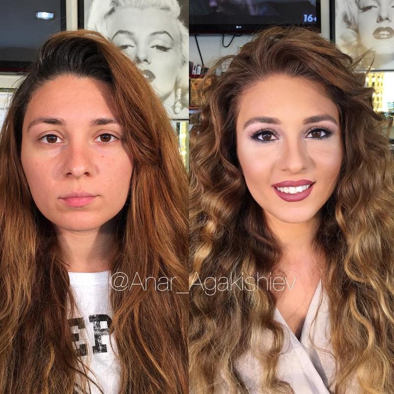стилист делает женщин моложе на десятки лет при помощи макияжа