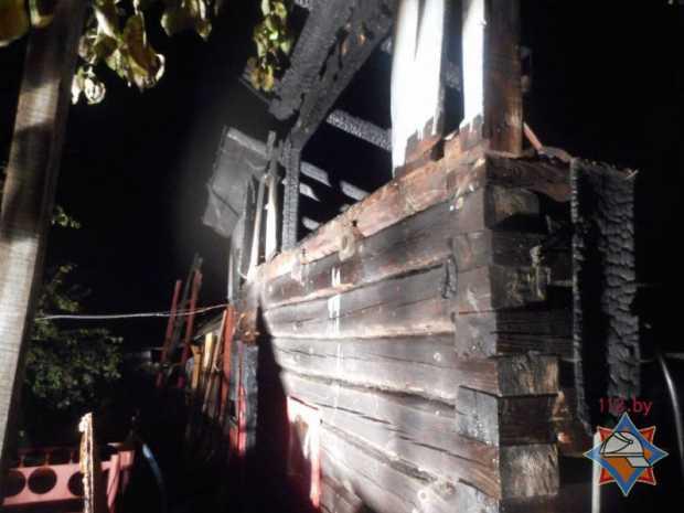 Полтела обгорело на пожаре у 33-летнего жителя Бобруйска