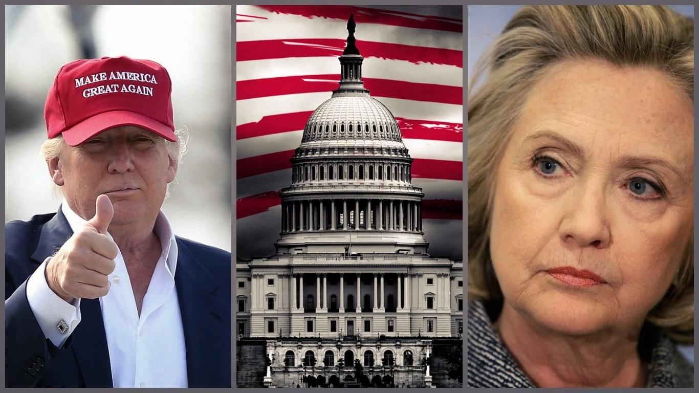 на выборах в США