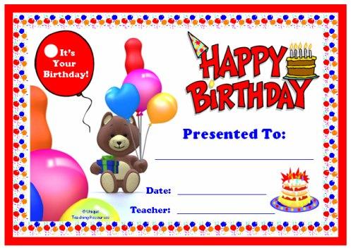 подарочные сертификаты на день рождения