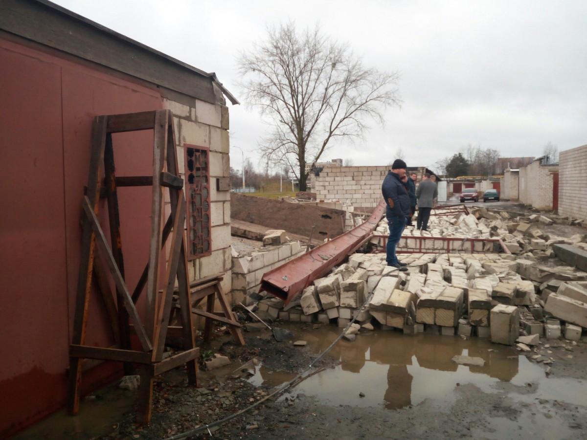 В Бобруйске произошло обрушение нескольких построек