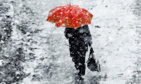 мокрый снег и дождь