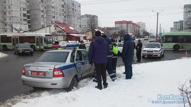 В Бобруйске автомобиль ГАИ снова попал в ДТП