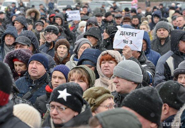 Бобруйчане вышли на митинг против декрета о тунеядстве