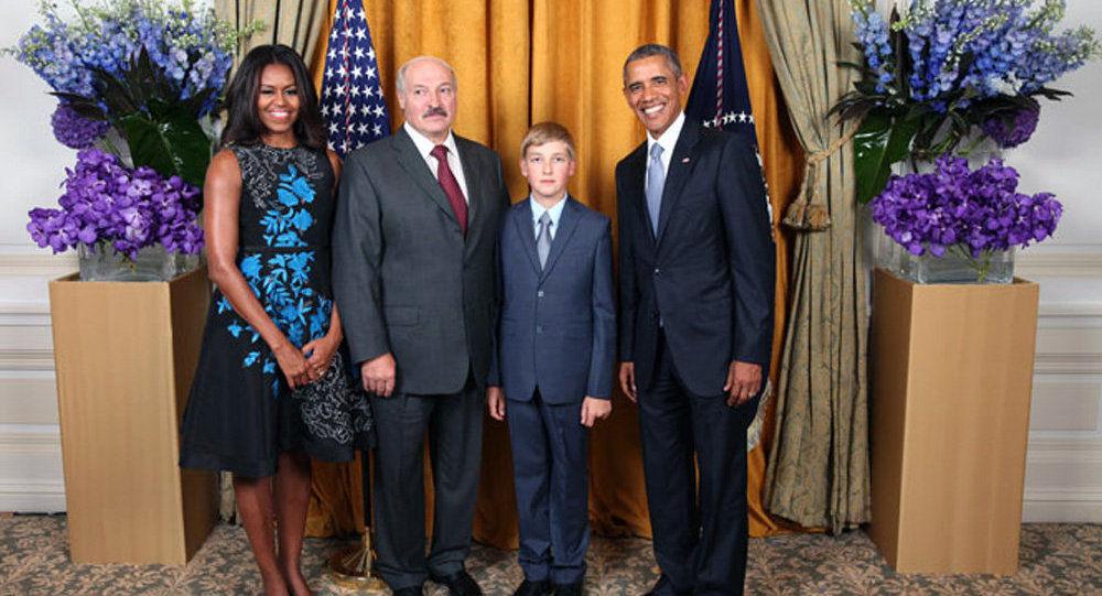 Лукашенко в США