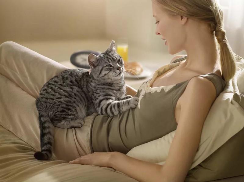 Почему кошка топчет Вас лапками