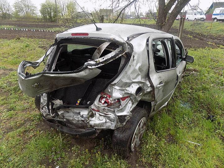 В Кличевском районе Peugeot вылетел в кювет
