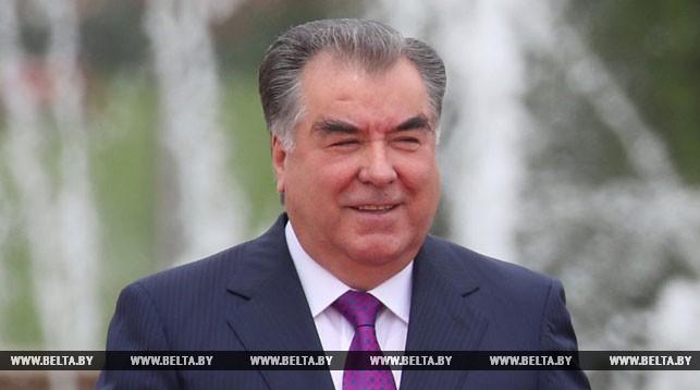 Рахмон: Таджикистан высоко ценит достигнутый уровень многопланового сотрудничества с Беларусью
