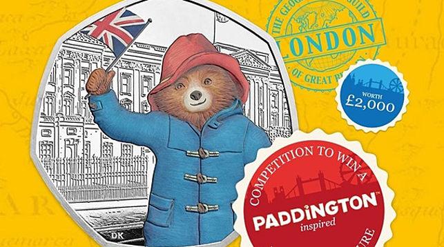 Монеты с изображением медвежонка Паддингтона выпущены в Великобритании
