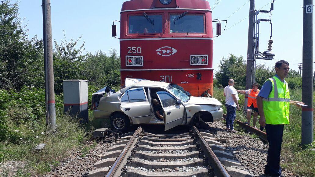 столкновение автомобиля и поезда