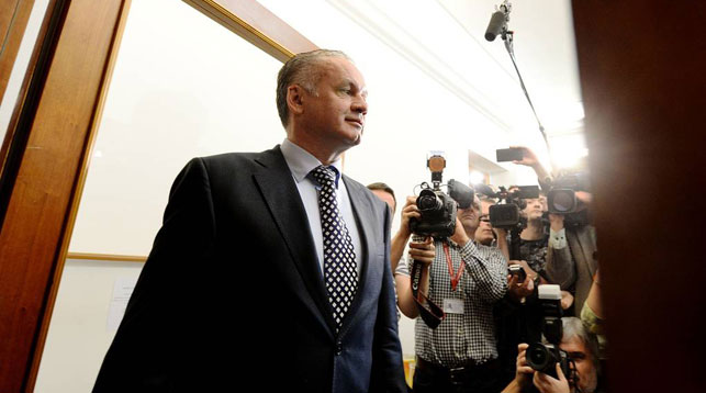 Президента Словакии оштрафовали на три месячных оклада
