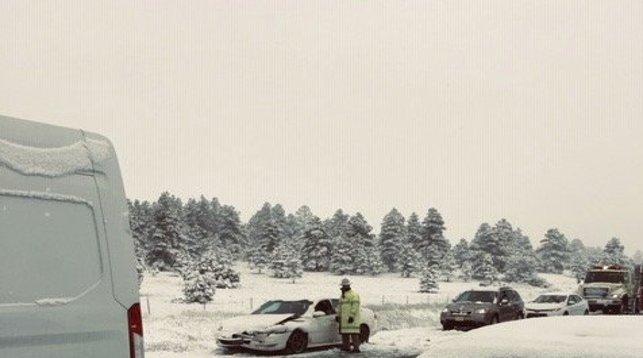 В штате Аризона внезапно выпал снег