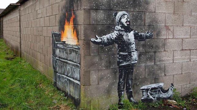 Граффити Бэнкси в Уэльсе начали перевозить в галерею