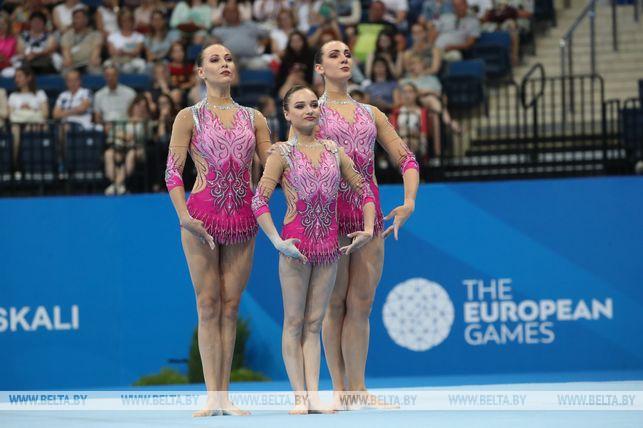 Первое золото: белорусские акробатки стали чемпионками II Европейских игр