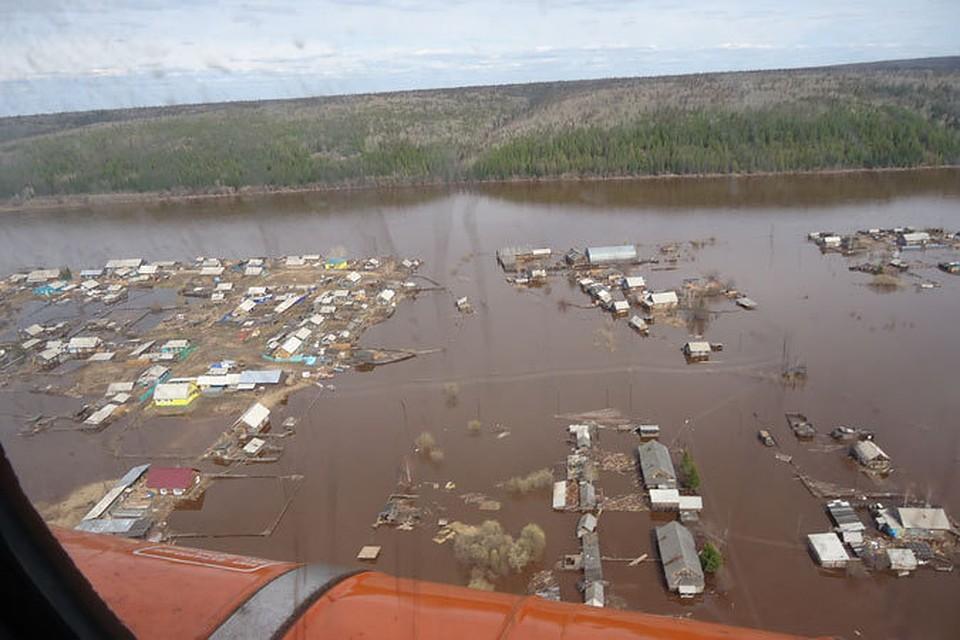 в паводковой зоне в Иркутской области