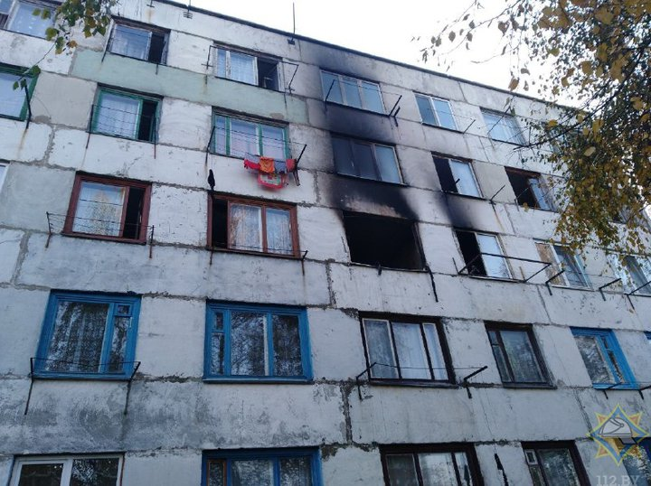 В Кричеве из-за пожара в общежитии эвакуировали всех жильцов