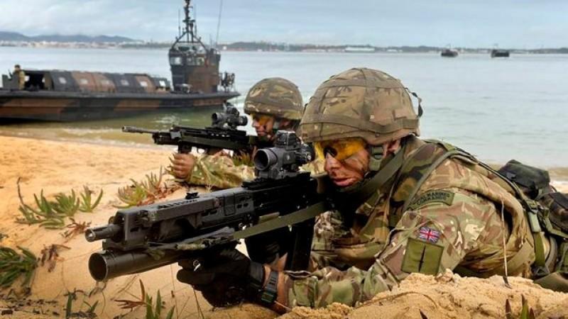 Совместная тренировка белорусских миротворцев с подразделением морской пехоты Великобритании