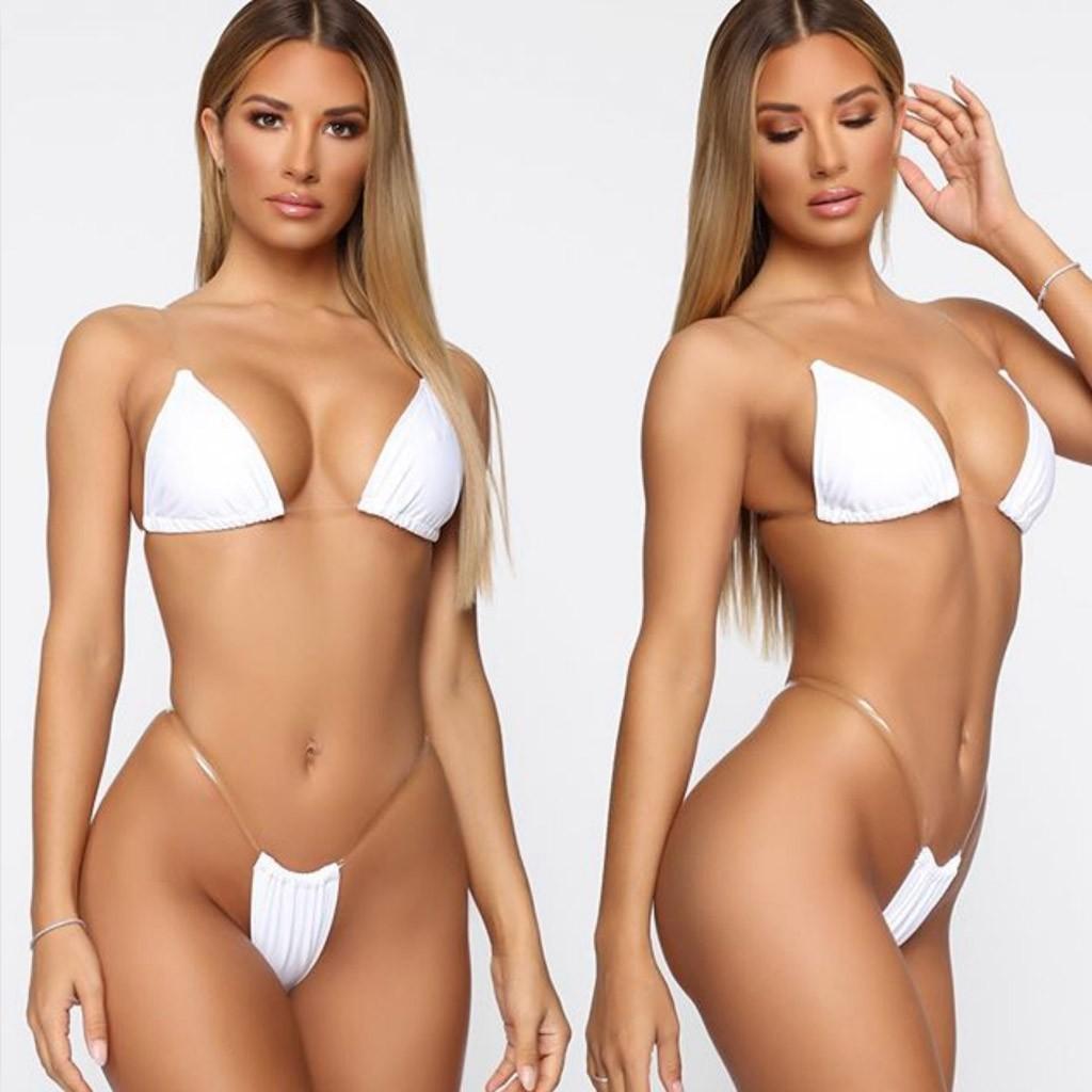 Популярное бикини с прозрачными частями