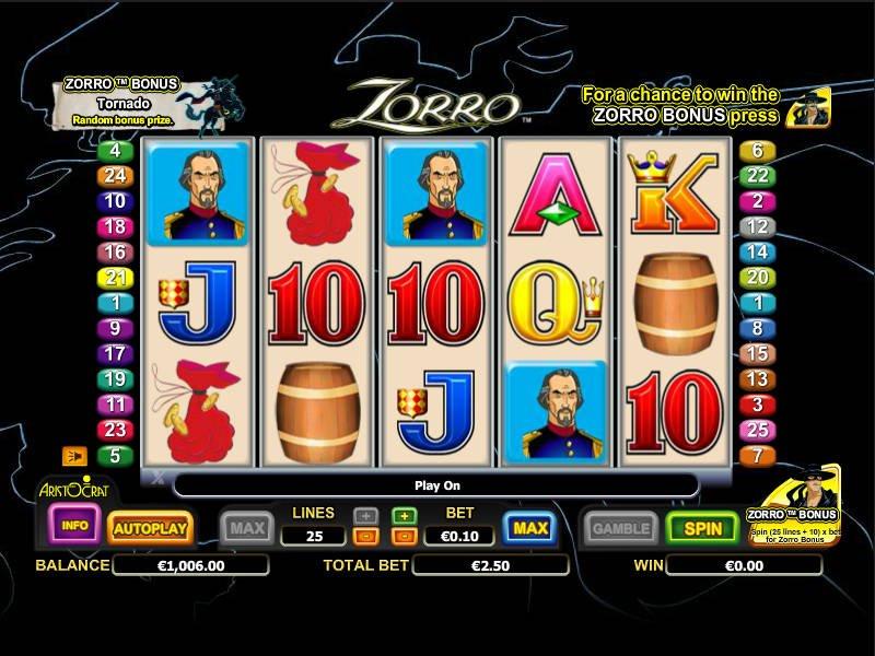 Игровой автомат Zorro
